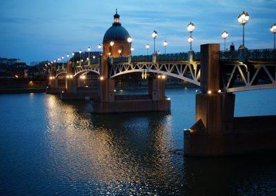 Le pont Saint-Pierre et la Garonne
